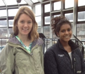 TSA Field Trip, Living Machine, Katie and Raji, cropped