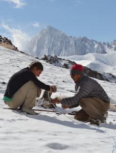 Artificial glacier Ladakh