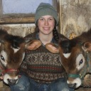 Jenna with bulls